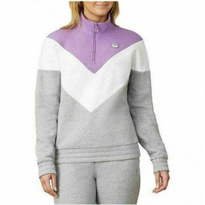 Fila Color-block 1/4 Zip Pullover Sweatshirt